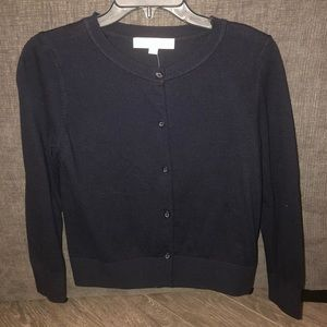 NWT Loft Cropped cardigan in Navy. Size SP